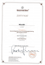 Milan Milic Beyreuther Zertifikat