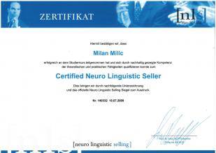 NLS Certificate - Neuro Linguistic Seller