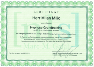nls Hypnose Grundtraining Certificate