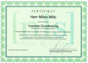 nls Hypnose Grundtraining Certificate