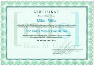 nls Zertifikat - Sales Master Practititioner